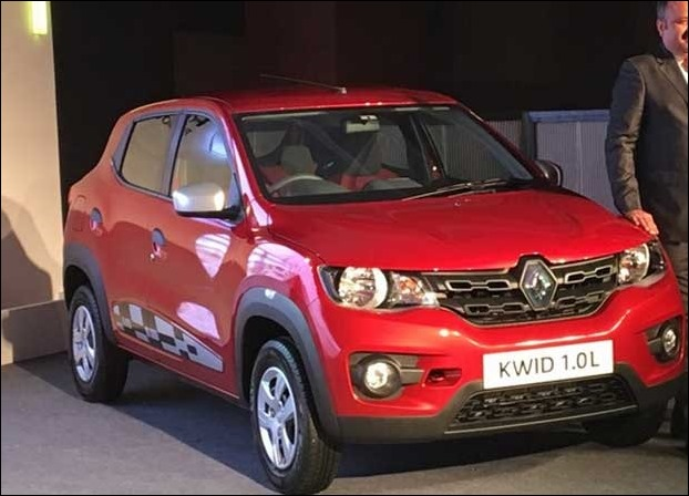 The new 1000 cc Renault KWID has a starting price of  Rs 3.83 Lakh