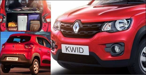 In context of bumpy Indian roads , the Kwid SUV has a perfect ground clearance of 180 mm , more over , the  300 litres of boot space provides ample space for luggage.
