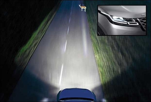 Land Rover Range Rover Velar's LED Laser headlamps deliver amazing visibility at night