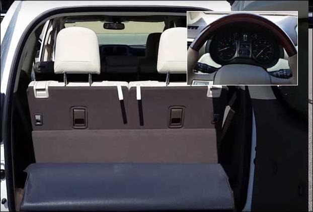 Third Row Seats and Dash board in Lexus GX 460 2017