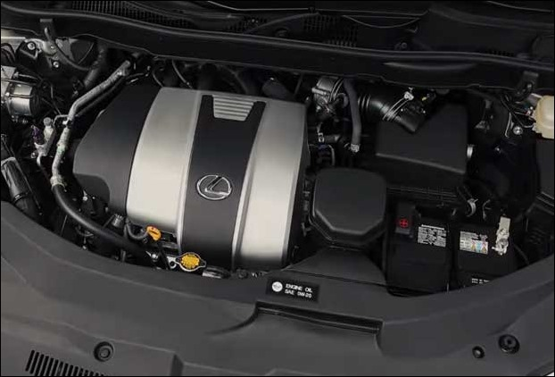 The 3.5-liter V6 engine of Lexus 350 produces 295 horsepower and 268 lb-ft of torque @ 4,700 RPM