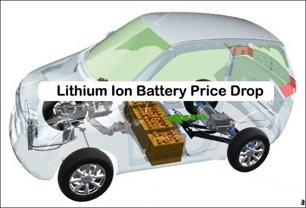 Lithium Ion Battery Cost has been a hurdle in its growth and scenes will begin to change with drop in its prices