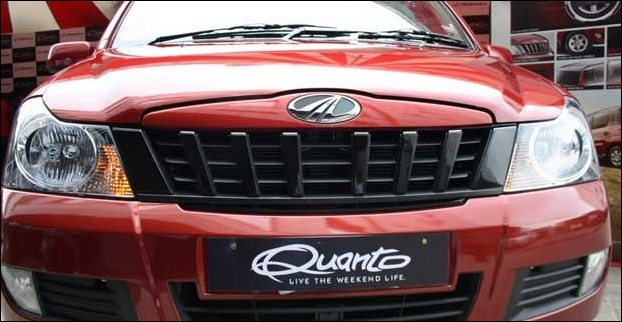 Quanto's front look is overall inspired from Mahindra Xylo