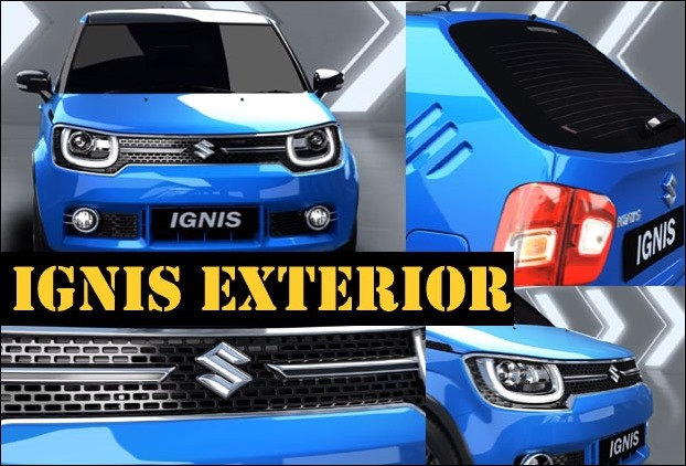 Maruti Ignis's black cladding give it a masculine exterior look