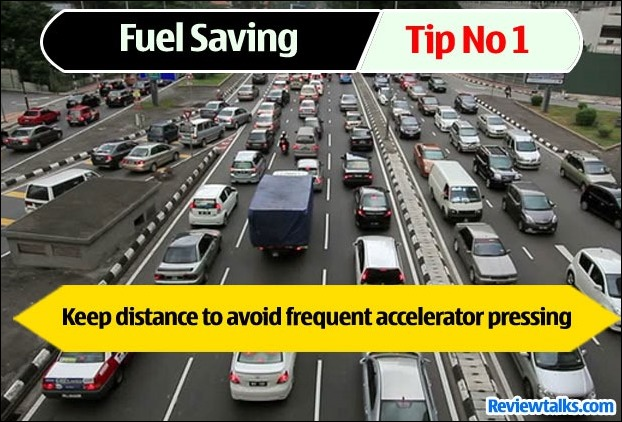 Avoid frequent pressing of accelerator to save fuel