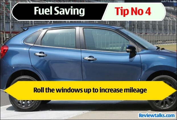 Running Car with open windows adversely affects mileage in cars