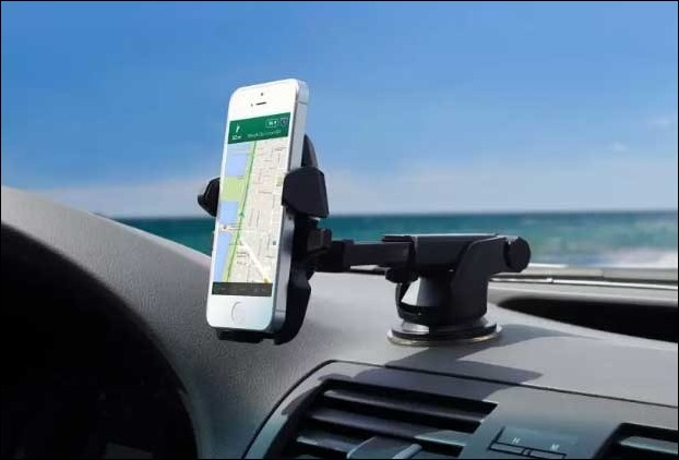 Dashboard mobile holder accesory helps in GPS navigation view