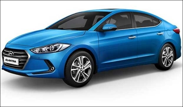 'This' Elantra has sharp lines while the older one had curves.