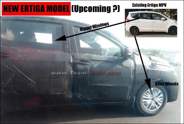 Maruti Ertiga New Generation model may have re-designed  grill and bigger rear door windows