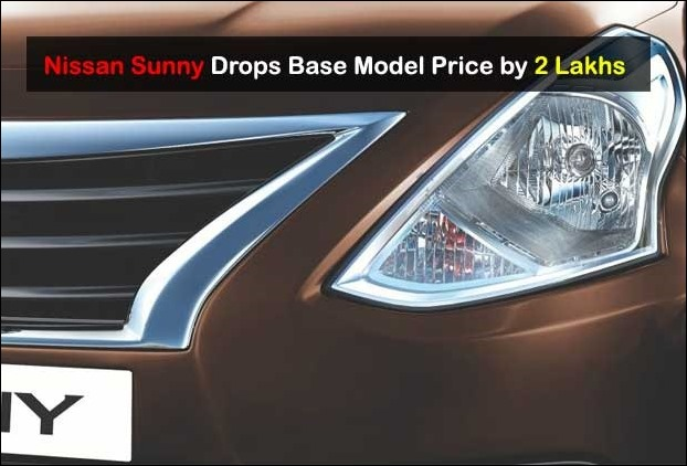 After a huge slash of 2 lakhs the Base Nissan Sunny Car Price has become 6.99 lakhs