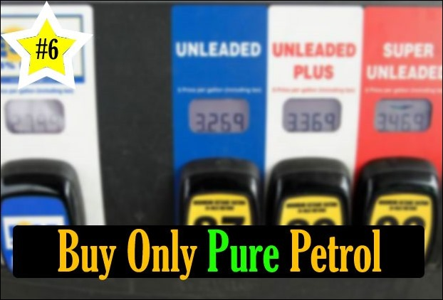 Impure petrol fuel damages the engine of your car