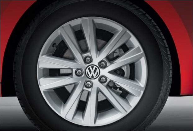 16 Inch Alloy Wheels of new VW Polo GT Sport