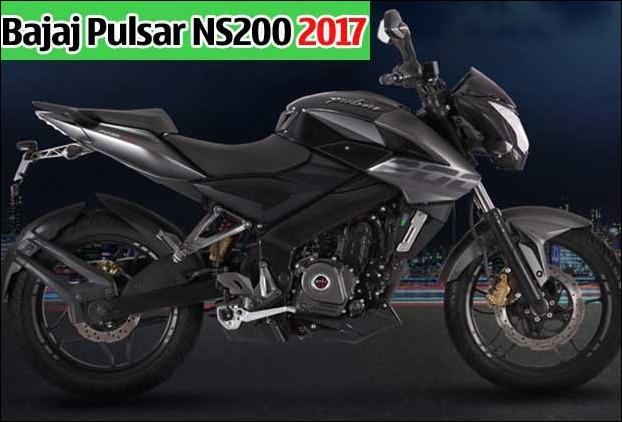 Bajaj's new model of Pulsar 'NS200' 2017 in India in Graphic Black Color
