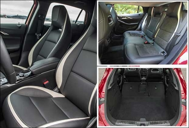 Cargo Space and Seats in QX 30 Infiniti 2017 Sports