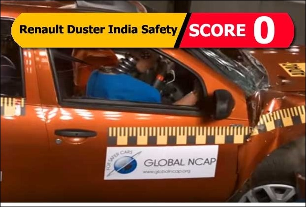 crash test says renault duster with airbags can cause more injury in the accident. Black Bedroom Furniture Sets. Home Design Ideas