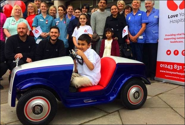 Rolls Royce made its smallest 'ever' car Rolls-Royce SRH especially for the surgery unit of Richard Hospital