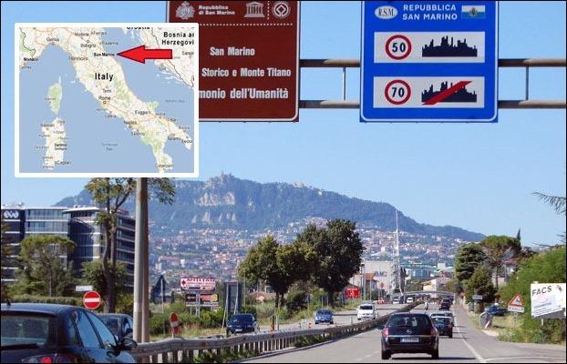 San Marino has the world's highest 1263 per 1000 people vehicle density