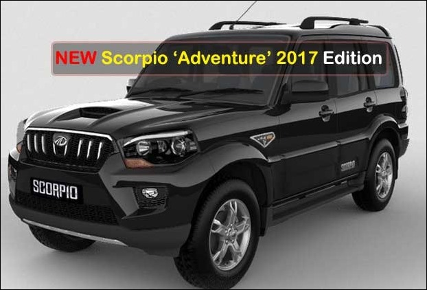 New Scorpio 2017 Adventure Edition Receives 4 wheel drive and 17 inch alloy wheels