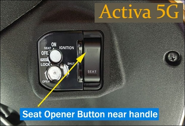 Smart button for Seat Opening in Activa 5G