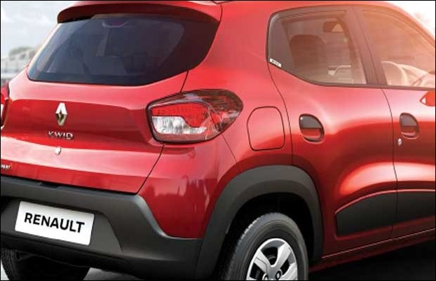 New Renault 1.0 L engine KWID has been given body graphics and silver