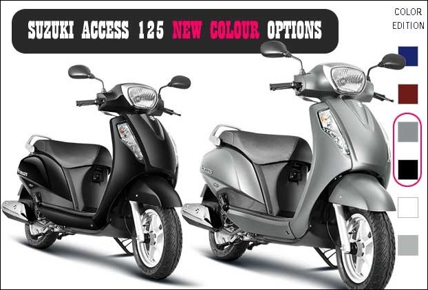 2 New Colours added to Suzuki Access 125 cc Special Edition
