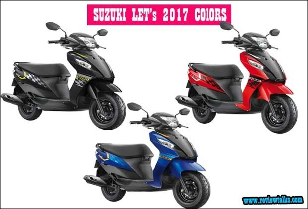 All New Let's 2017 Scooter with 3 Dual Tone Colours