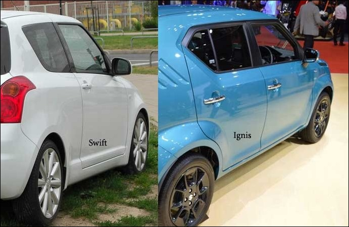 The doors of Maruti Suzuki Ignis are Inspired from Swift