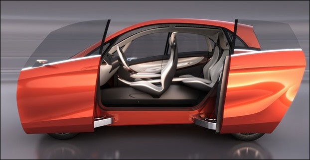 Tata MegaPixel car's double-sliding door system and the car's B-pillar less design makes entry/exit easy, besides superb outlook