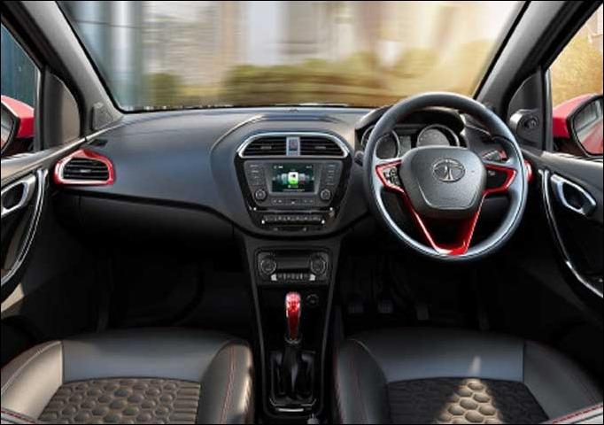 Tata Tigor dashboard and interior look unveiled at Geneva