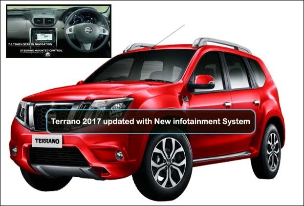A new 7 inch touch infotainment system has been given in this facelift of Terrano