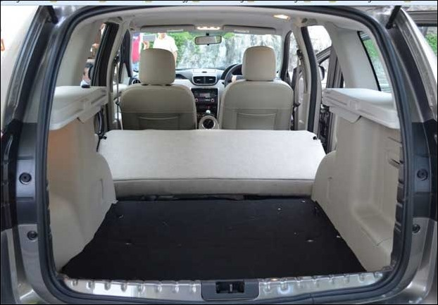Nissan Terrano has 475 liter of boot space