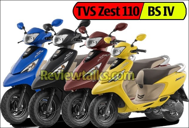 TVS Zest 110 BS4 version gets 4 new colors