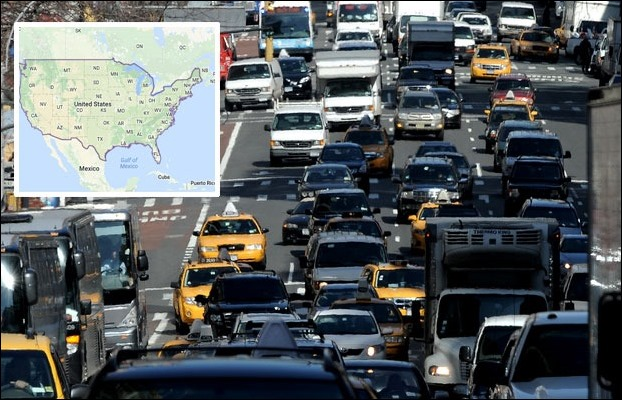In 318.9 million population of, USA there are 809 vehicles on 1000 people