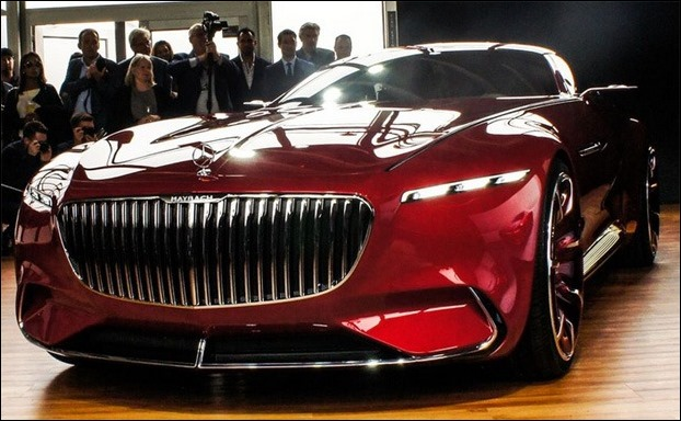 The front profile of Maybach 6 looks like Mercedes AMG GT