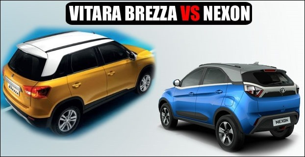Vitara Brezza is higher while Nexon is longer