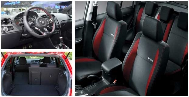 Volkswagen Polo interior is spacious with 5 passenger seating capacity.It has 280l of boot space.