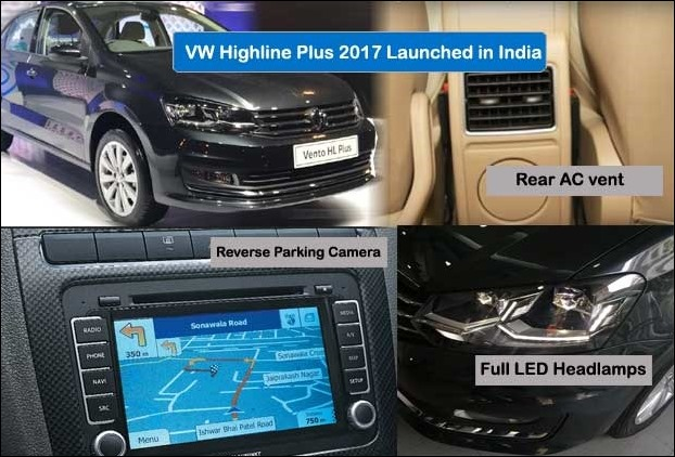 Volkswagen Vento Launches Highline Plus Variant with parking camera , rear ac and full led head lamps