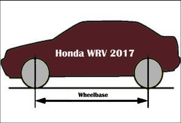 New WRV 2017 will have an increased wheelbase of 2555mm