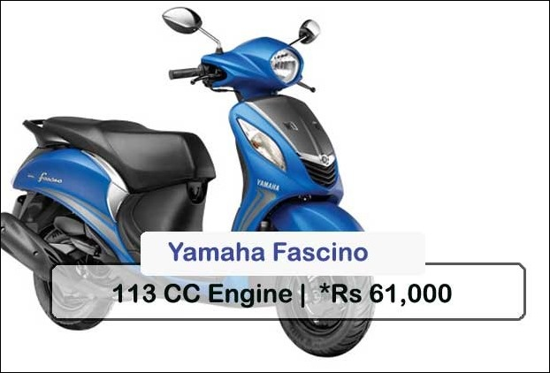 Yamaha Fascino is the best option if you want to own a Yamaha gearless automatic scooter